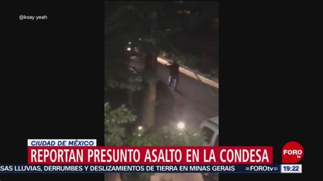 Foto: Video Asalto Mano Armada La Condesa CDMx Hoy 30 Enero 2020