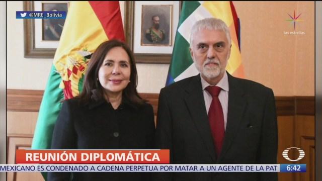 representante de mexico en bolivia se reunio con canciller interina karen longaric