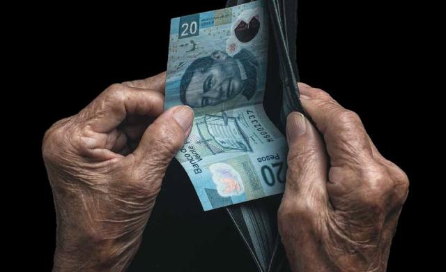 20 de enero 2020, Retiro , Cartera, Billete, Billete 20 pesos, Dinero, Efectivo