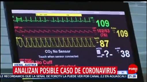 FOTO: 26 enero 2020, se analiza primer caso sospechoso de coronavirus en austria