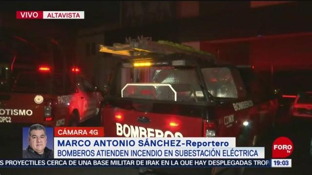 Foto: Incendio Altavista Subestación Eléctrica Hoy 14 Enero 2020