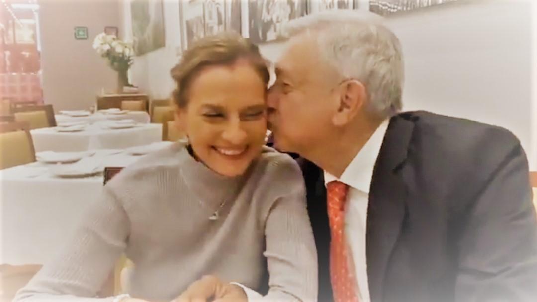 Se rayó Beatriz, dice AMLO a Gutiérrez Müller en cumpleaños