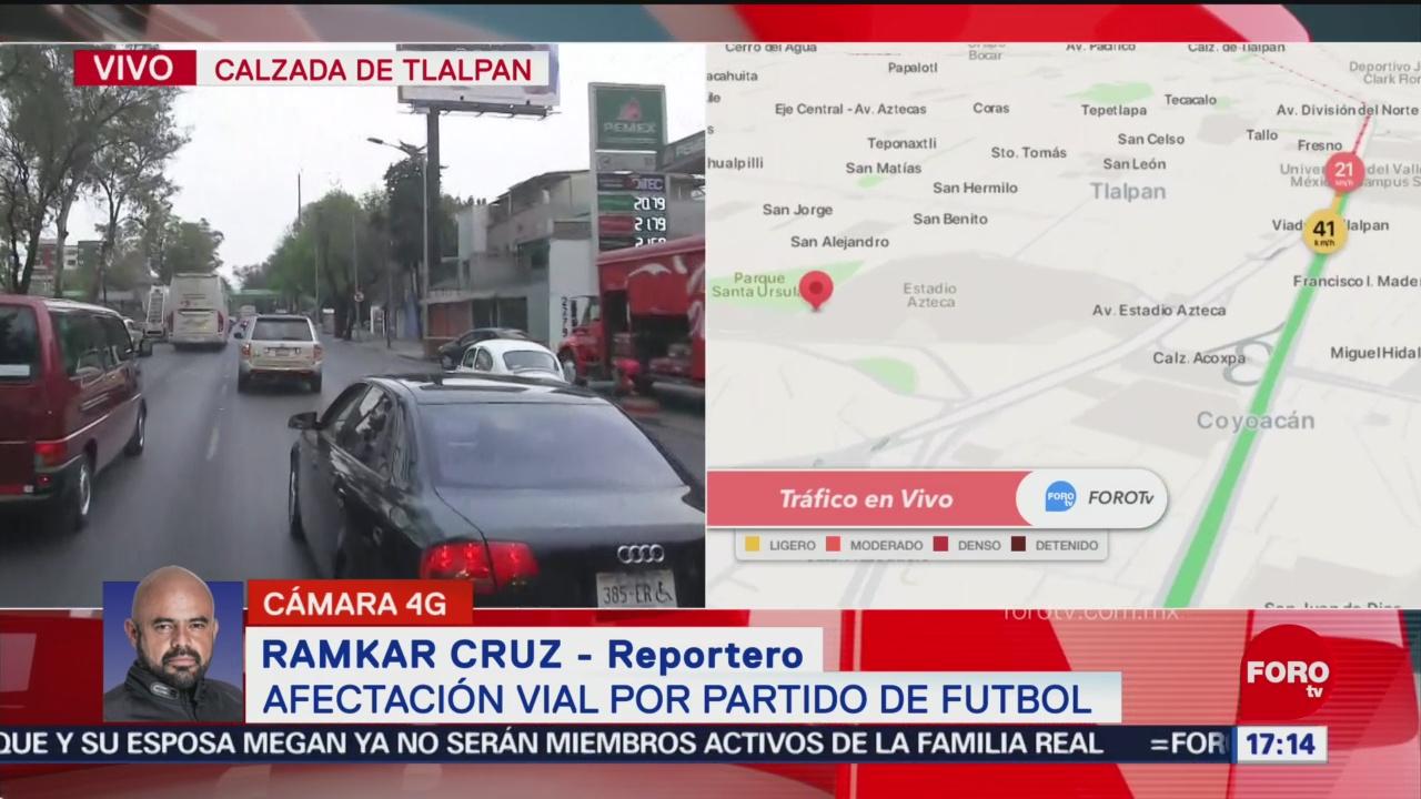 FOTO: 18 enero 2020, se registra afectacion vial por partido america tigres en el estadio azteca