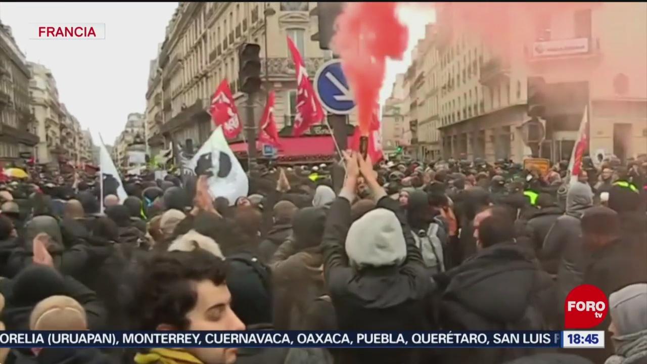 FOTO: segundo mes de protestas por jubilaciones en francia
