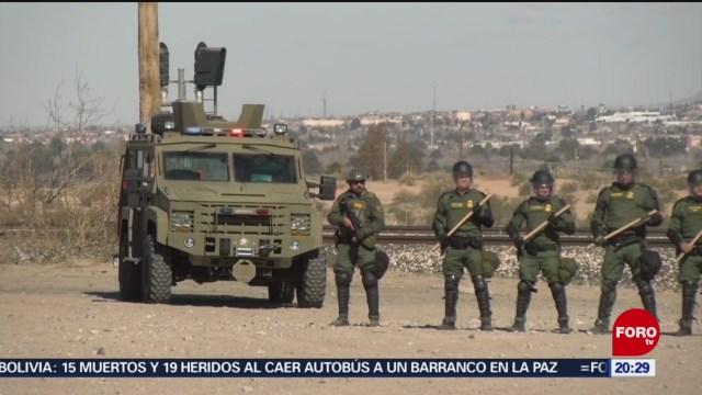 Foto: Simulacro Contra Migrantes Zona Fronteriza El Paso 31 Enero 2020