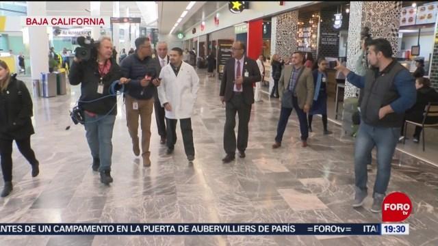Foto: Coronavirus Pruebas Pasajeros Procedentes China Aeropuerto Tijuana 28 Enero 2020