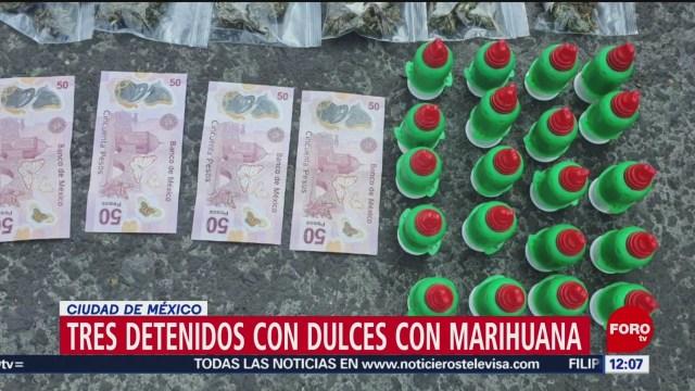 tres detenidos por vender dulces con marihuana