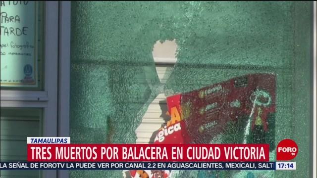 FOTO: 5 enero 2020, tres muertos por balacera en ciudad victoria tamaulipas
