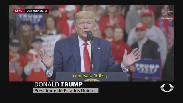 Foto: Trump Muro Pagarán Migrantes Mexicanos Remesas 30 Enero 2020