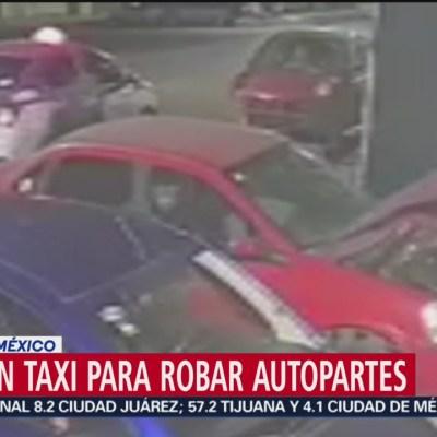 Utilizan taxi para robar autopartes