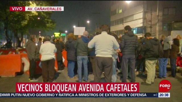 Foto: Vecinos Bloquean Avenida Cañaverales Tlalpan 21 Enero 2020