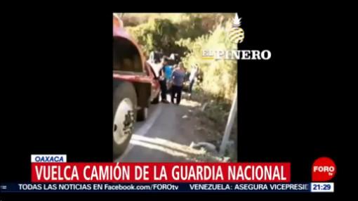 Foto: Volcadura Camión Guardia Nacional Tres Muertos 27 Enero 2020