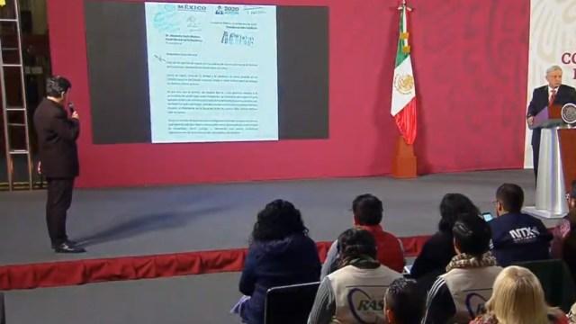 FOTO AMLO hace pública carta enviada al fiscal general por caso Ayotzinapa (YouTube)