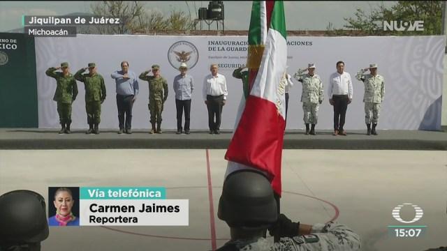 FOTO: amlo inaugura instalaciones de la guardia nacional