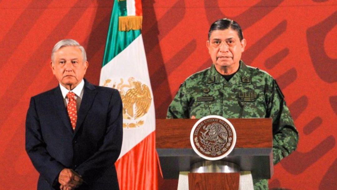 Foto: El presidente Andrés Manuel López Obrador en su conferencia de prensa matutina estuvo acompañado por el titular de la Sedena, Luis Cresencio Sandoval, 14 febrero 2020