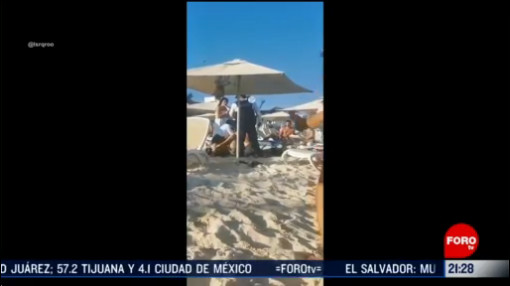 Foto: Video Arresto Turistas Descansaban Playa Del Carmen 17 Febrero 2020
