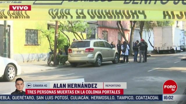 FOTO: 29 febrero 2020, asesinan a tres personas en la colonia portales