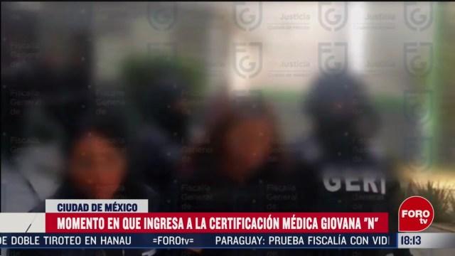 FOTO: asi fue el momento en el que ingresa giovana n a certificacion medica