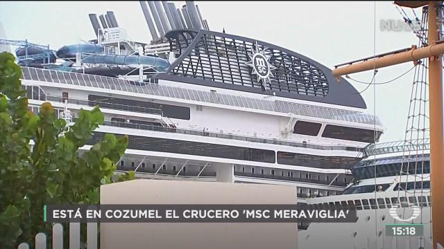 FOTO: atraca crucero en cozumel con un caso de influenza