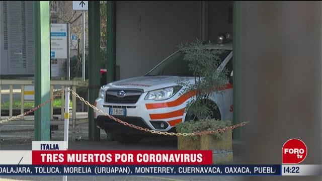 FOTO: 23 Febrero 2020, aumentan a tres los muertos por coronavirus en italia