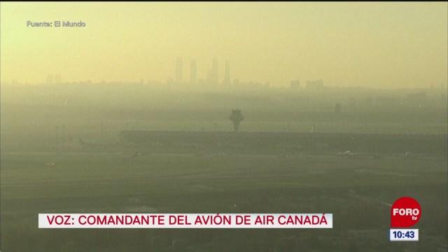avion con pasajeros alista aterrizaje de emergencia en madrid