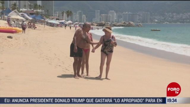 Foto: Turistas Canadienses Refugian frío Acapulco Guerrero 26 Febrero 2020