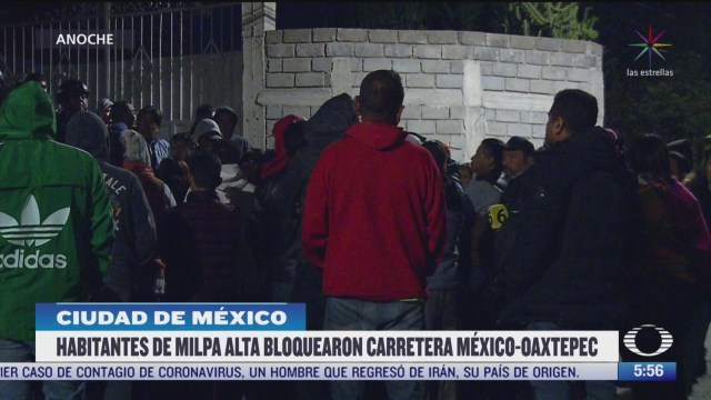 bloquean carretera federal mexico oaxtepec en protesta por intento de secuestro