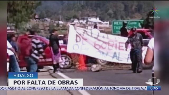 bloquean carretera federal mexico tuxpan en tepepa