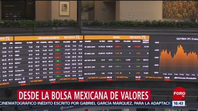 FOTO: bolsa mexicana cierra con perdidas este 6 de febrero