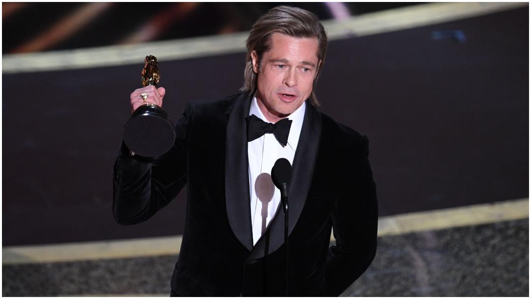 Foto: Brad Pitt gana como Mejor Actor de Reparto, 9 de febrero de 2020 (Getty Images)