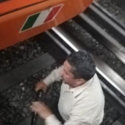 Bastón metálico provoca corto circuito en vías de Línea 1 del Metro; suspenden servicio