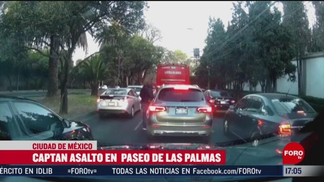 FOTO: captan asalto en paseo de las palmas