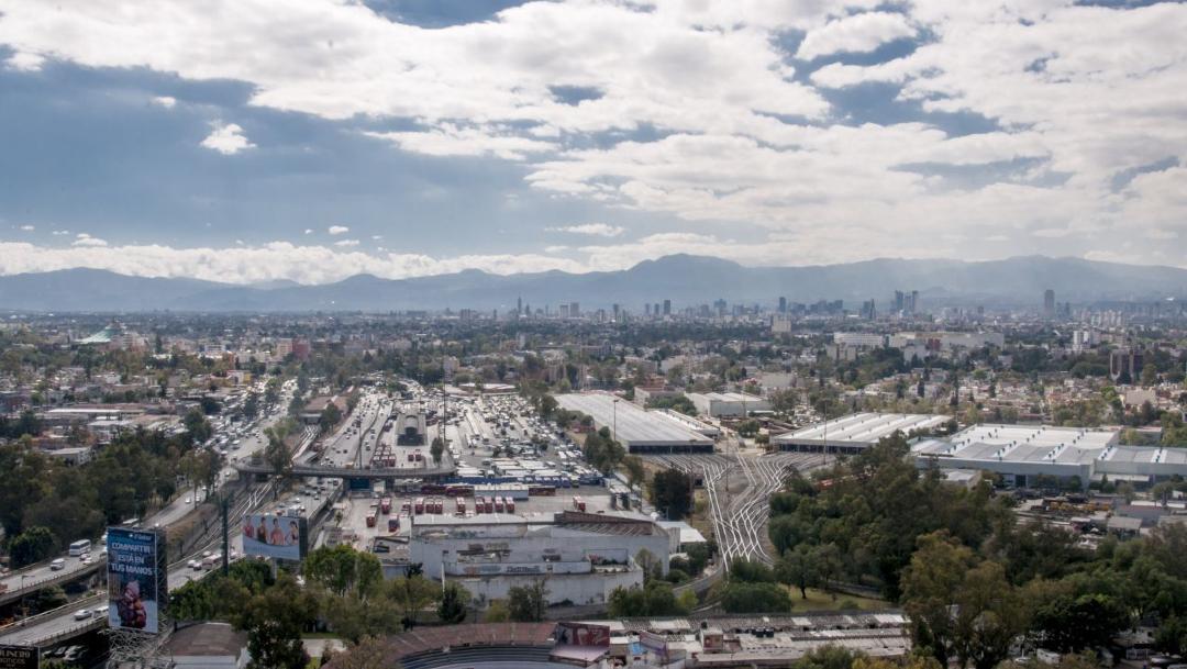 Foto: Vista de la ciudad de México desde el norte de la capital, 27 febrero 2020