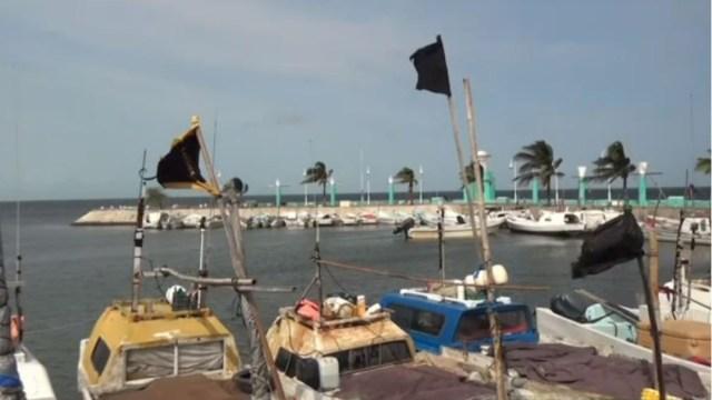 FOTO: Cierran puertos por Frente Frío 36 en Campeche, el 02 de febrero de 2020