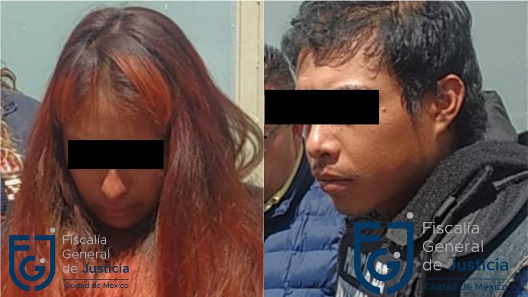 Giovana 'N' y Mario 'N', presuntos asesinos de la niña Fátima