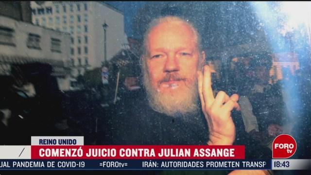 FOTO: comenzo juicio de extradicion de assange