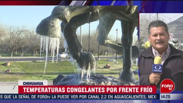 FOTO: continuan temperaturas congelantes por frente frio 41 en chihuahua