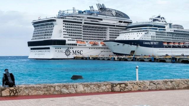 Retrasan desembarque de pasajeros de crucero en Cozumel