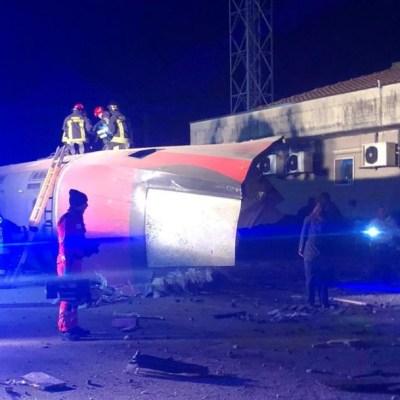 Descarrila tren en Italia; reportan 2 muertos y 30 heridos