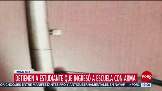 Foto: Estudiante Ingresó Pistola Colegio Hidalgo Detenido 5 Febrero 2020