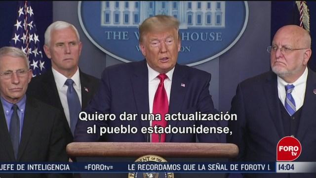 FOTO: 29 febrero 2020, donald trump pide no entrar en panico tras muerte en ee uu por coronavirus