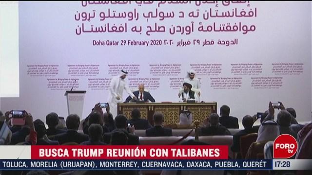 FOTO: 29 febrero 2020, donald trump promete reunirse con lideres taliban muy pronto