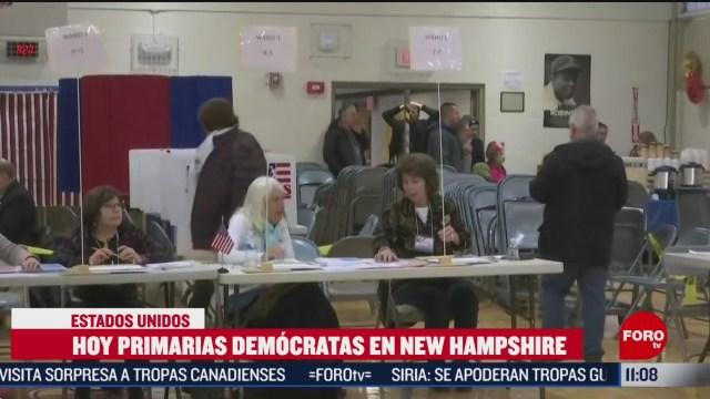 eleccion primaria democrata en new hampshire estados unidos
