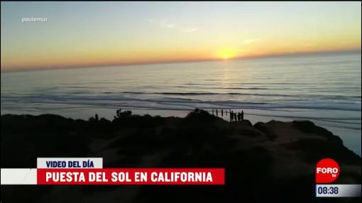 elvideodeldia puesta del sol en california