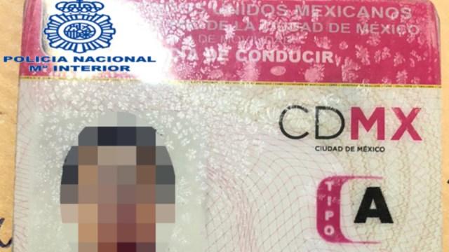 FOTO Emilio Lozoya presentó licencia de conducir falsa al ser detenido en Málaga (Policía Nacional de España)