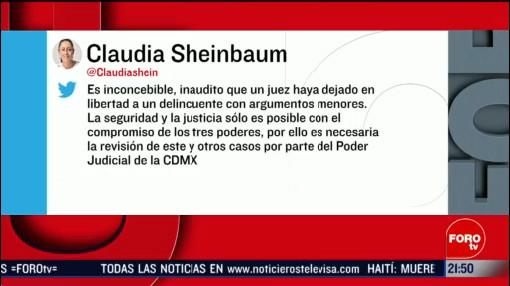 Foto: Inconcebible Liberación El Lunares Claudia Sheinbaum14 Febrero 2020