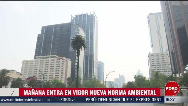 Foto: Norma Calidad Del Aire Semarnat Entra Vigor 17 Febrero 2020