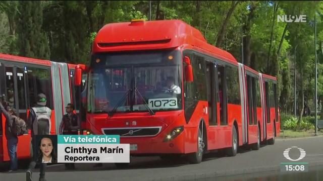 FOTO: estrenan nuevas unidades del metrobus en la cdmx