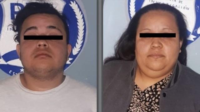 Foto: Juana 'N' y a César Alejandro 'N', de 34 y 18 años de edad respectivamente serán investigados por su probable participación en el delito de extorsión; una denuncia ciudadana colaboró en la detención