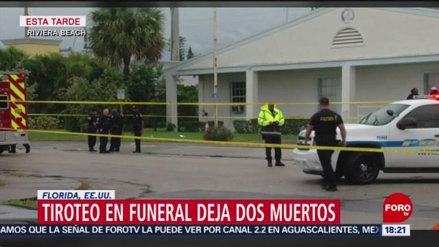 FOTO: 1 Febrero 2020, fallece dos tras tiroteo durante funeral en florida
